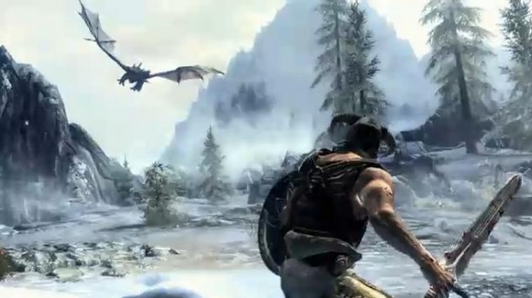 Skyrim-dragon-gameplay