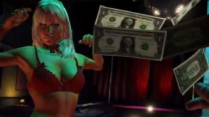 make it rain in the gta v strip club
